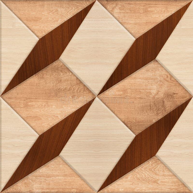 Wood Nature Geometric Floor Tile vector illustration