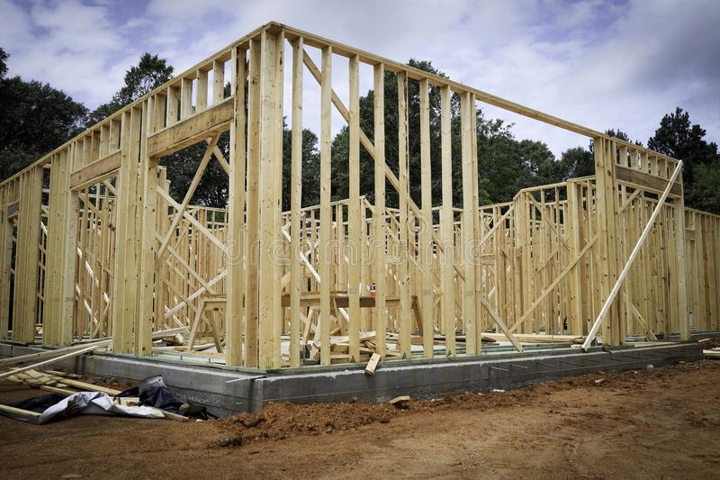 Download Wood New Home Framing stock image. Image of building - 54673435