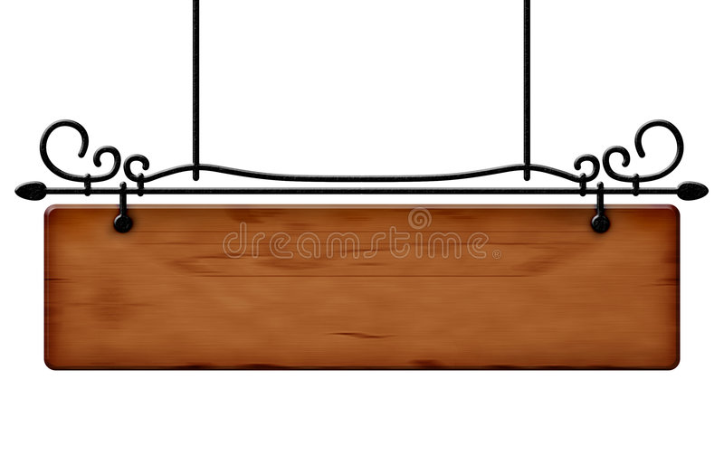 Wood notice board stock photo