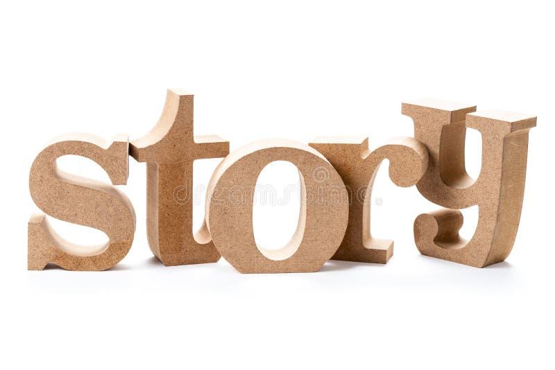 Wood ord för berättelse arkivfoton