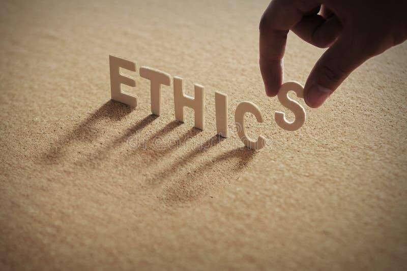 Wood ord för ETIK royaltyfri fotografi