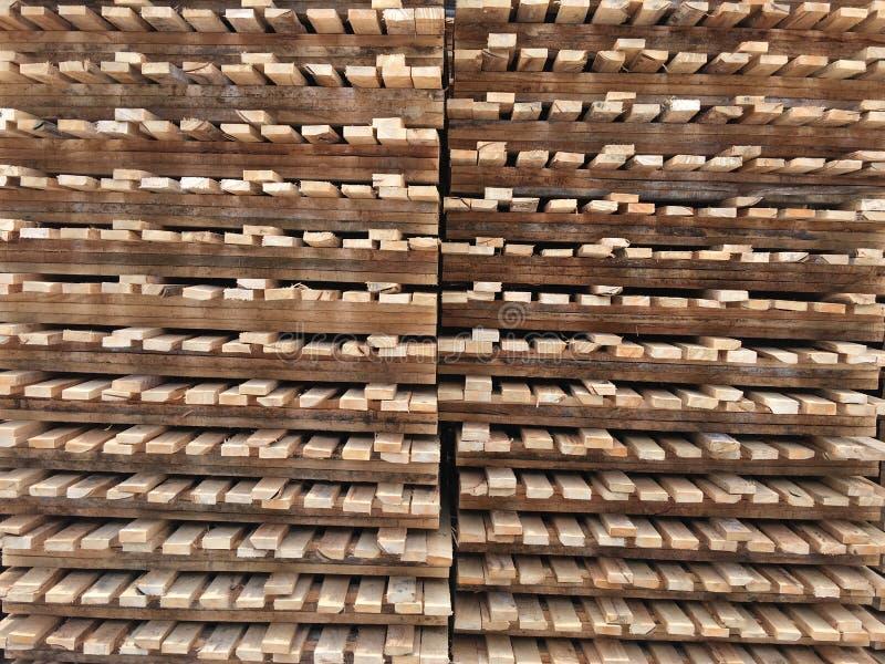 Wood palett royaltyfria bilder