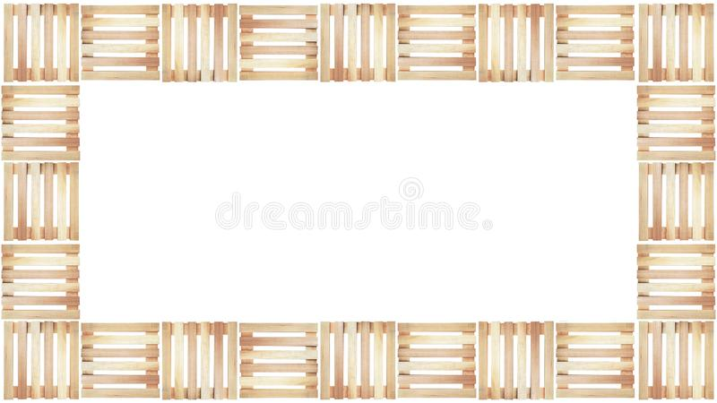 Download Wood Pallet Pattern On White Background In Top View Stock Photo