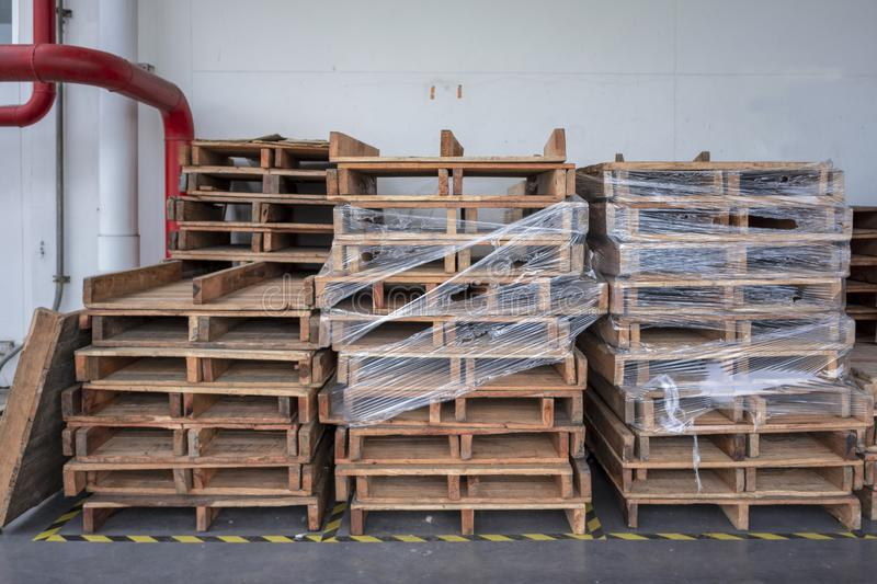 The Wood Pallets stock photography
