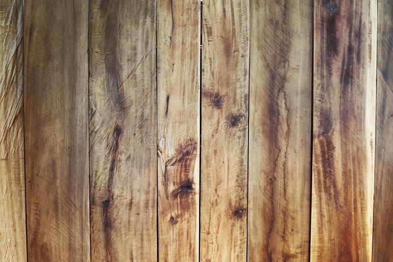 Wood Panel Background, natural brown color, stack vertical to sh. Ow grain texture as wall decorative forester royalty free stock photography