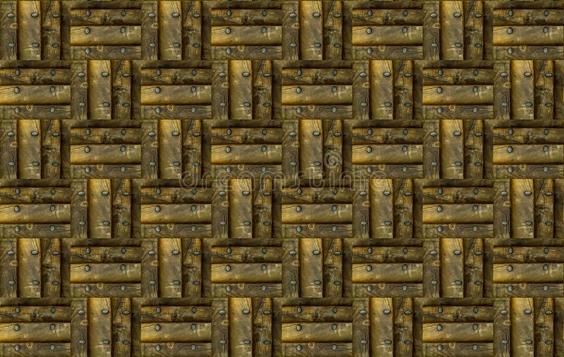 Wood panel för brun fyrkantig modelltextur med grunge för beställning för schack för järnnitkvarter arkivbilder