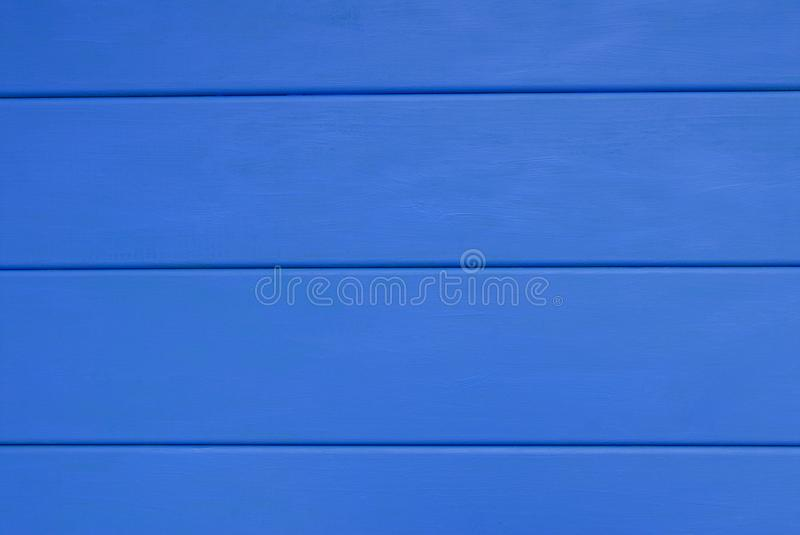 Wood-panelled background, blue wooden boards, wood wall, planks stock images
