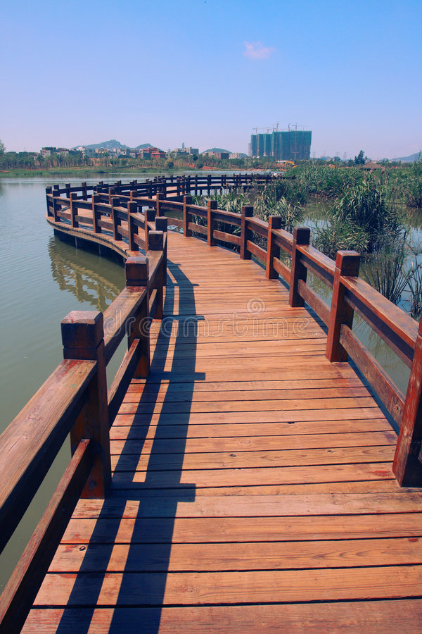 Wood Path On Water Royalty Free Stock Photo