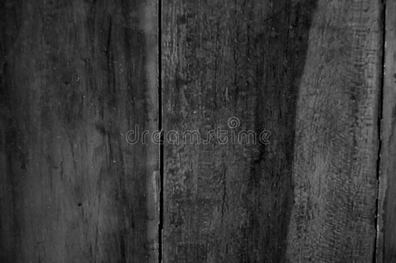 Wood pattern. Background black and white stock image