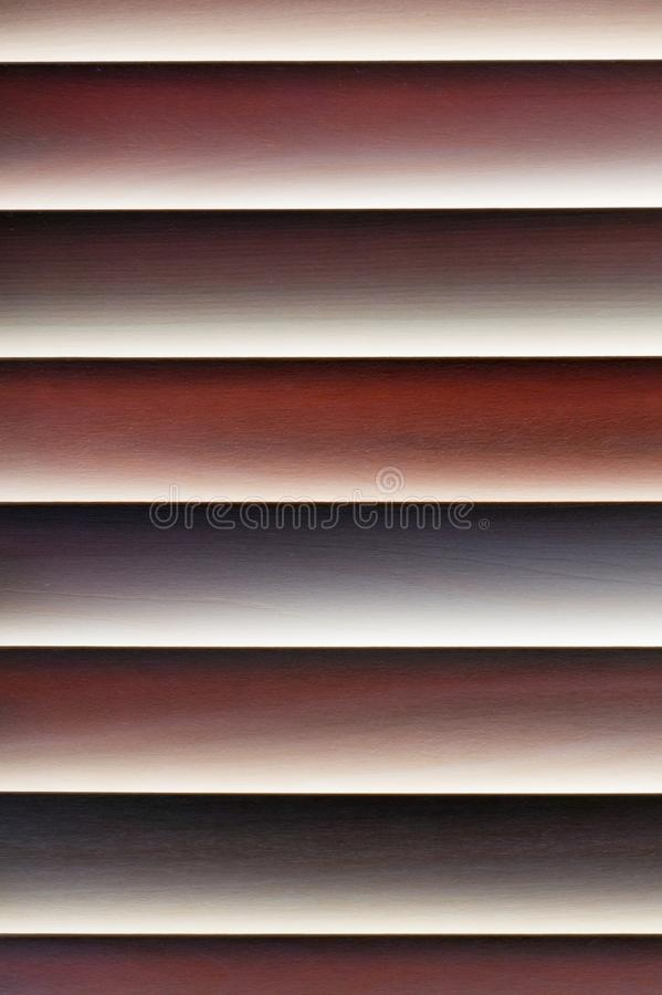 Wood pattern/background of the horizontal lines/stripes in six colors royalty free stock photography