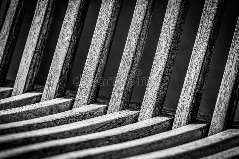 Wood pattern in black and white. Wood pattern of a chair in black and white colors royalty free stock image