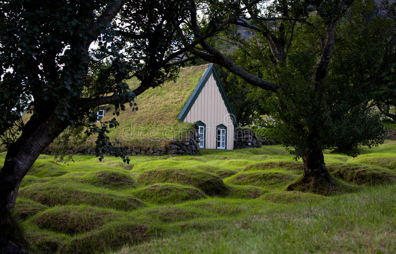 Wood And Peat ( Turf) Church. Royalty Free Stock Photos