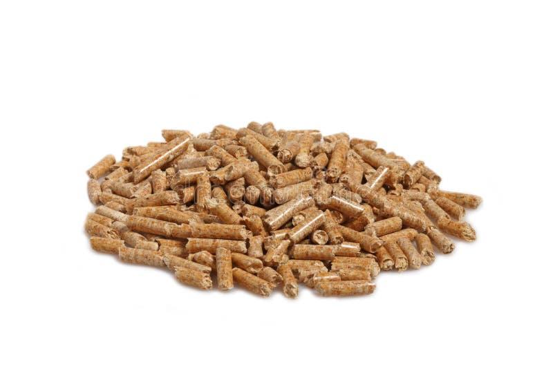 Wood pellet background stock images