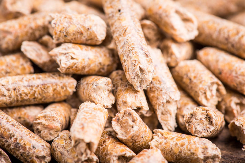 Wood pellet royalty free stock image