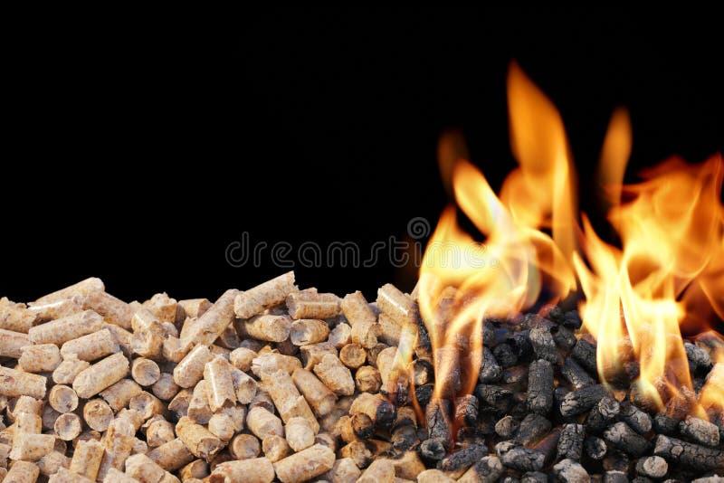 Wood Pellets royalty free stock photos