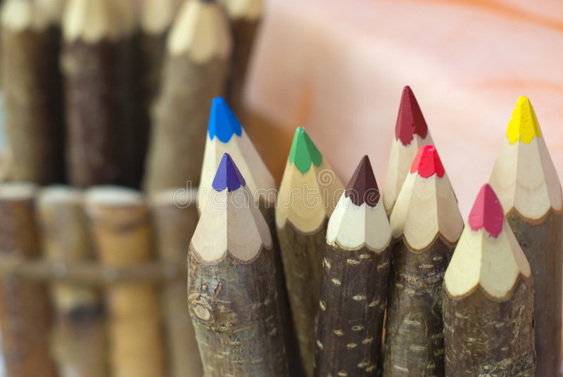 Wood Pencil Colors Royalty Free Stock Photo