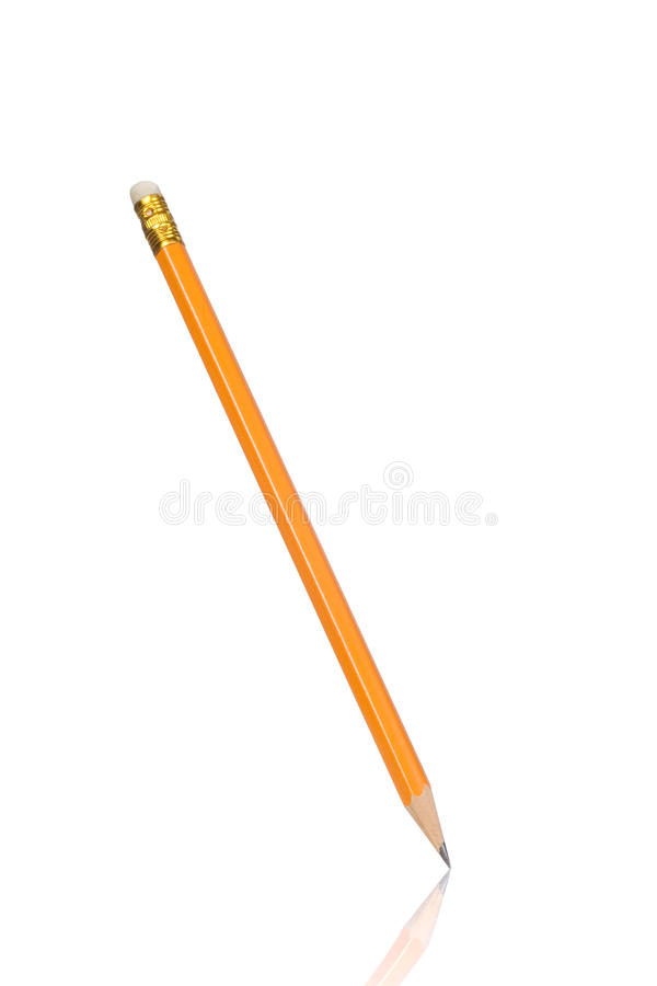 Download Wood pencil on white stock photo. Image of isolated, pencil - 14851462