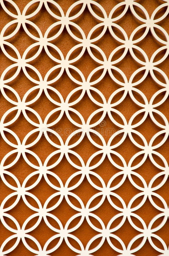 Wood Perforated With Green Color Background Stock Image