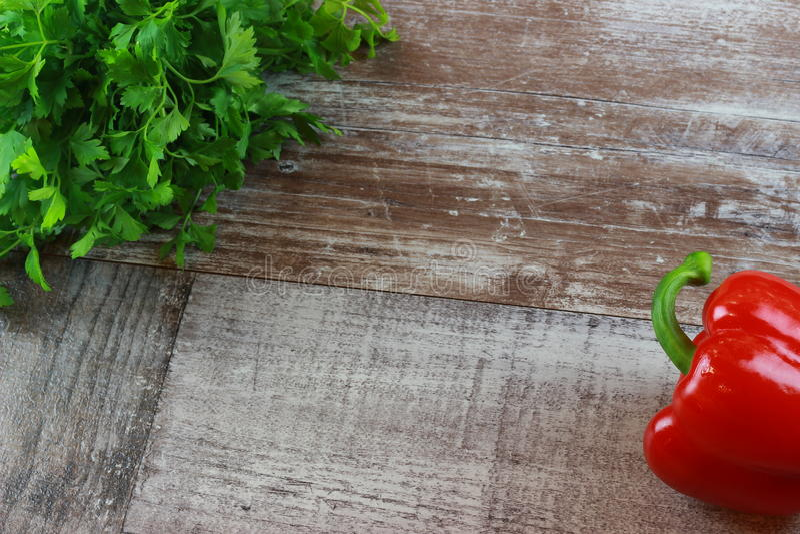 Wood persiljapaprika royaltyfri foto
