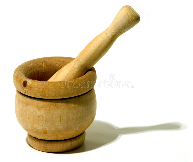 Wood pestle stock photography