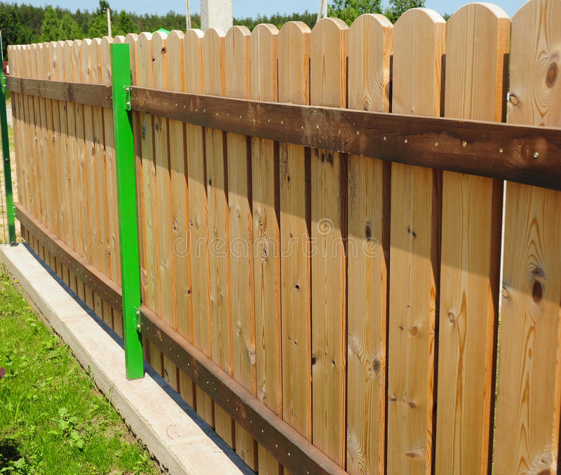 Wood picket fence details. stock photography