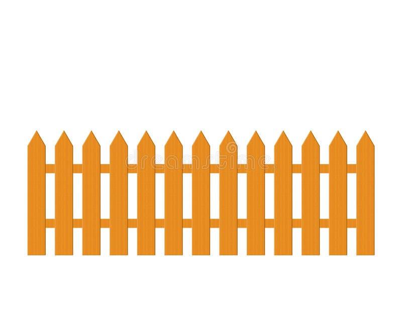 Wood Picket Fence Illustration stock image