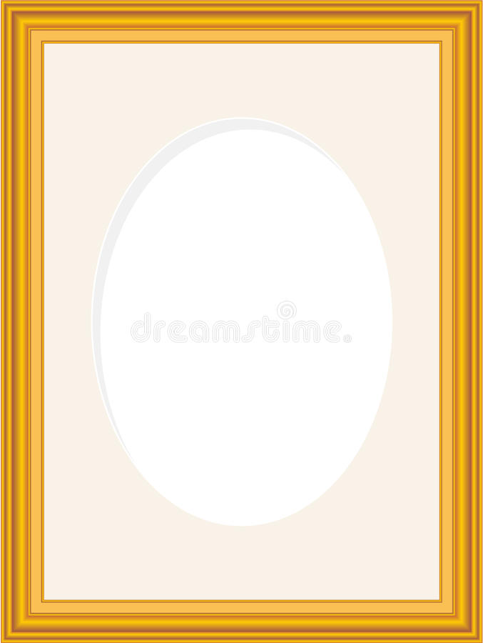 Wood Picture Frame Stock Vector Illustration Of Oval