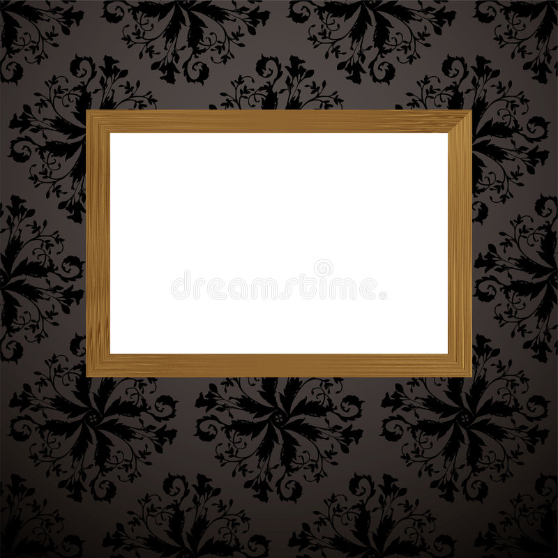 Download Wood picture frame black stock vector. Image of collection - 9112984