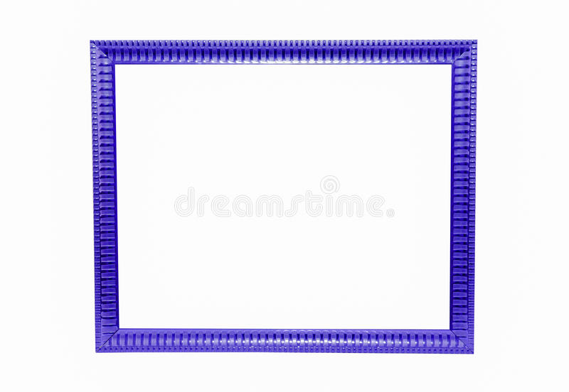 Wood picture frame. Color squares Wood Picture Frame on white background royalty free illustration