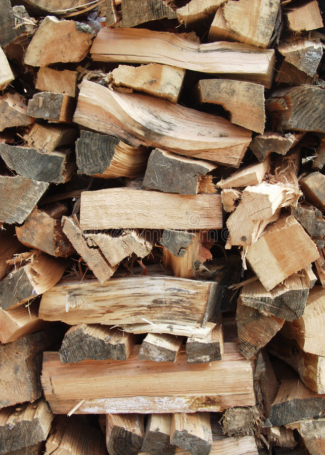 Wood pile stock image