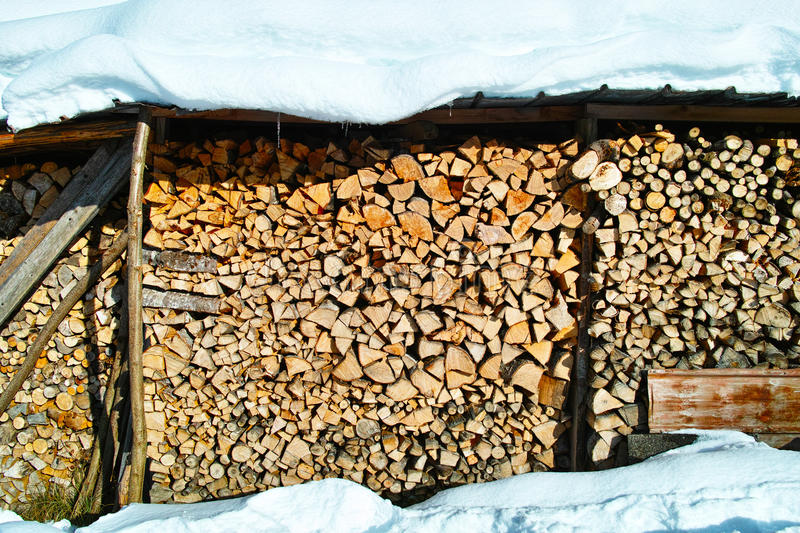 Download Wood Pile Storage In Winter Stock Photo - Image of blanketed home 57699052 & Wood Pile Storage In Winter Stock Photo - Image of blanketed home ...