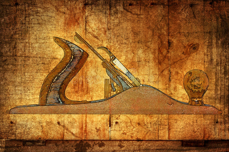 Wood plane stock illustration