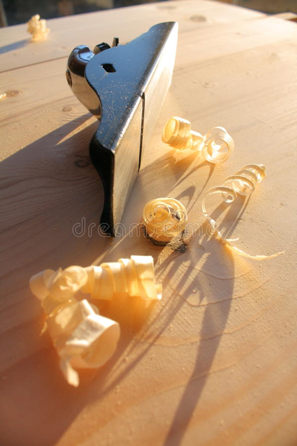 Free Wood Plane And Wood Shavings Royalty Free Stock Images - 51797949