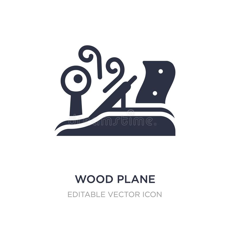 Wood plane icon on white background. Simple element illustration from Architecture and city concept. Wood plane icon symbol design stock illustration