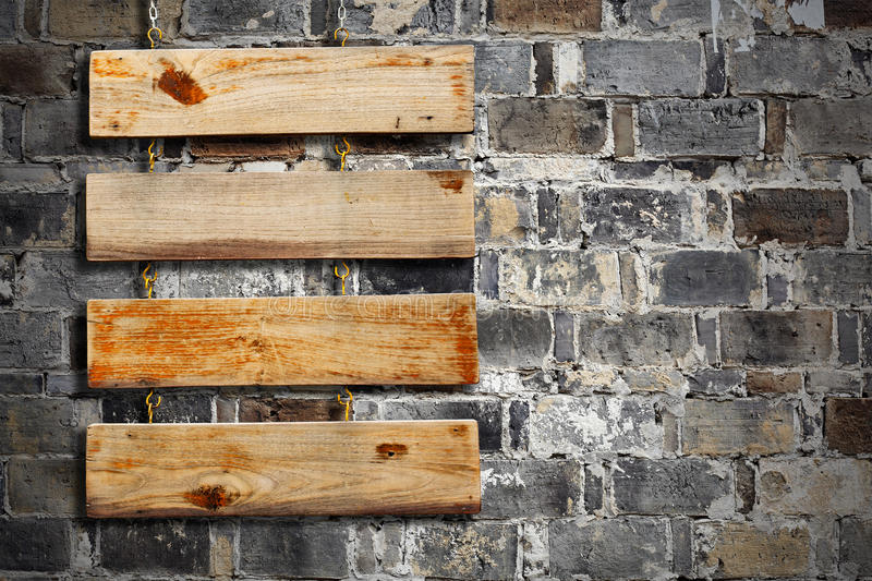 Wood Plank Sign stock image