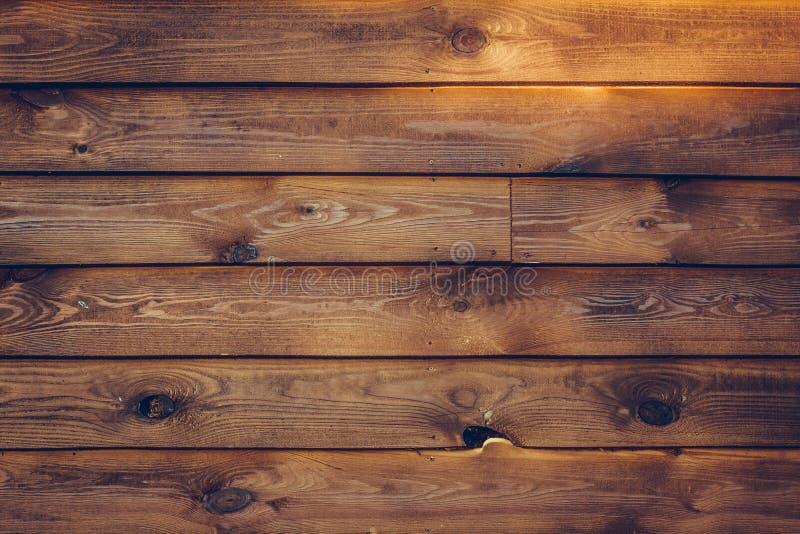 Wood plankabakgrund Lantlig closeup av trägrungetextur M?rk tr?tabell Brun yttersida i tappningstil Trätabell su arkivbilder