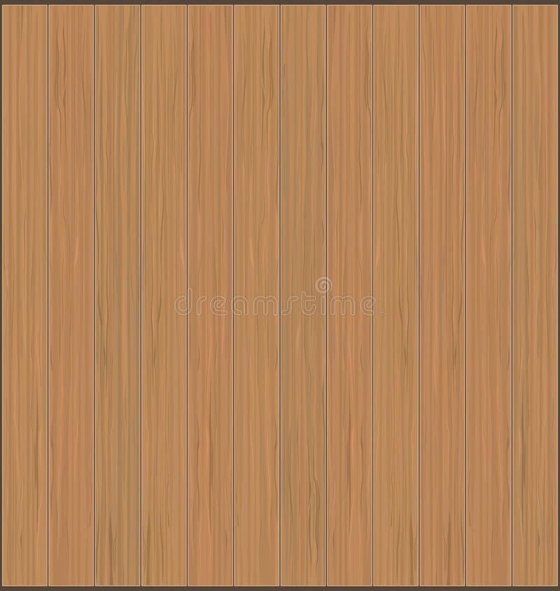 Wood plankor sänker textur, realistiskt brunt träbräde vektor vektor illustrationer