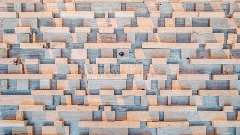 Wood planks texture background in bright morning sunlight stock photos