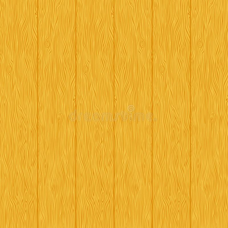 Yellow wood planks texture. Wood planks texture. Yellow color wall. Vector wooden background. Vertical stripes stock illustration
