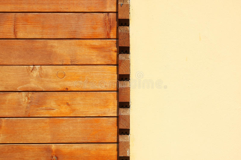 Wood and plaster wall royalty free stock images