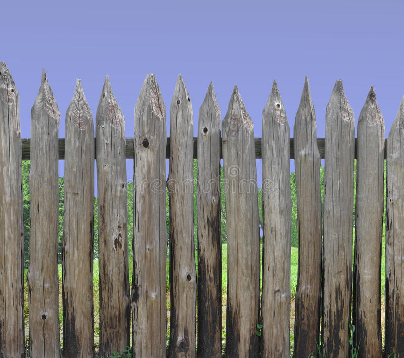 Download Wood post palisade section stock image. Image of timber - 25218051