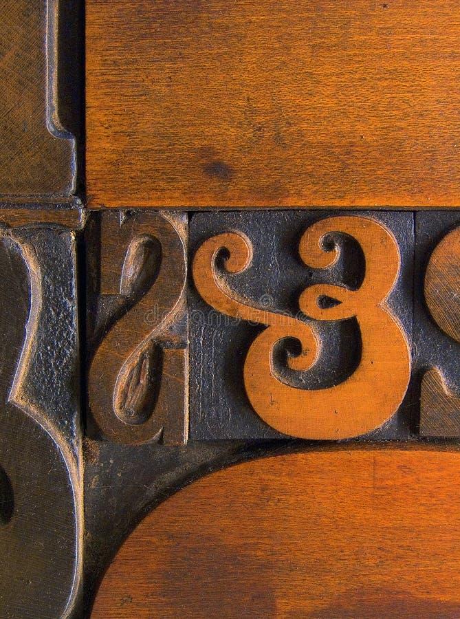 Wood Printing Blocks 3 stock image