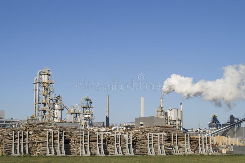 Wood processing enterprises. Belarus stock image