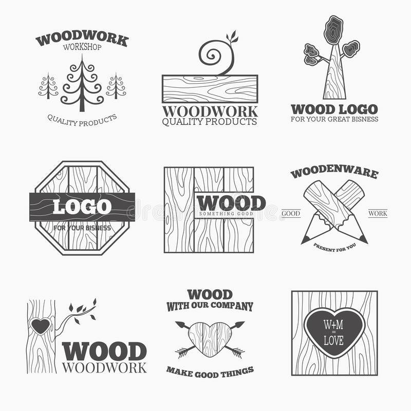 Download Wood Products Logo Vector Stock Illustration Of Circular