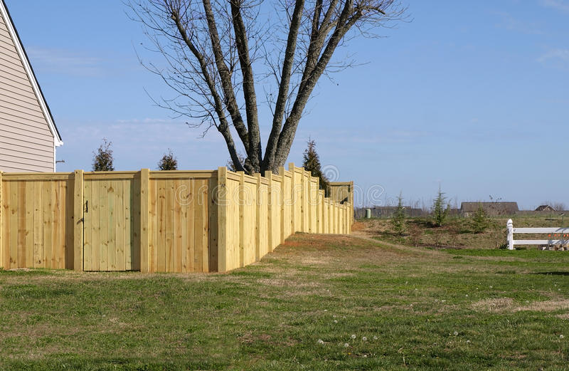 Wood Property Fence Royalty Free Stock Images