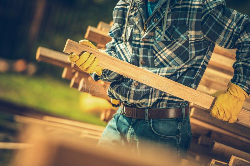 Contractor Wood Purchase royalty free stock photography