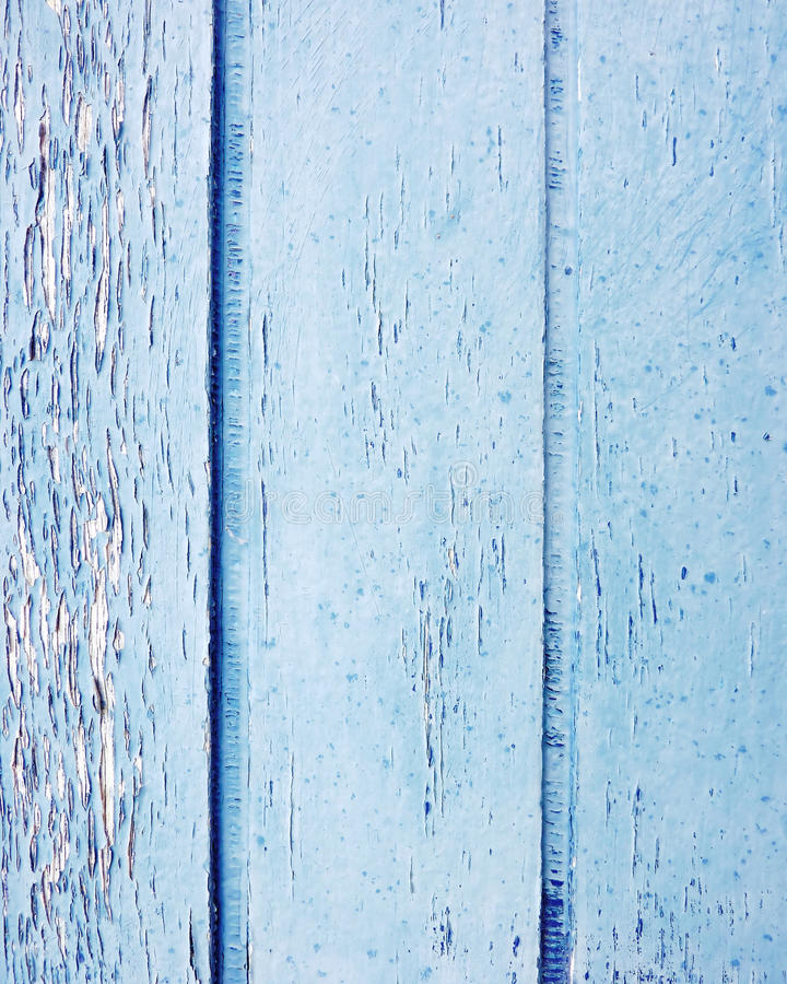 Wood remsor målade blått arkivfoto