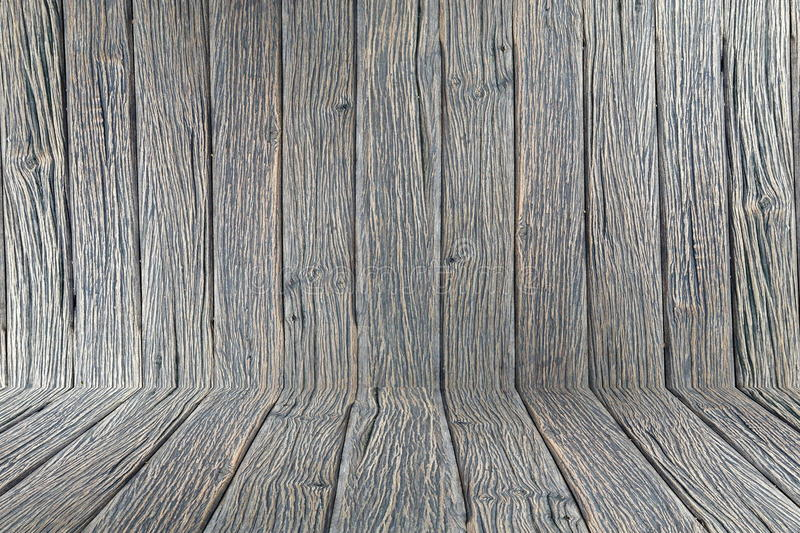 Wood room background wallpaper vintage texture wall floor wooden dark design brown royalty free stock photo