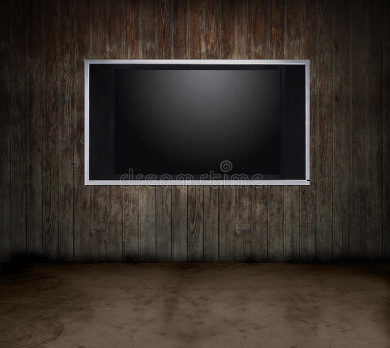 Free Wood Room TV Royalty Free Stock Images - 9417519