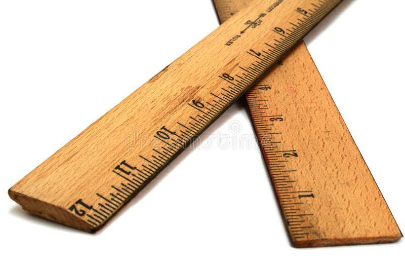Wood Rulers royalty free stock images